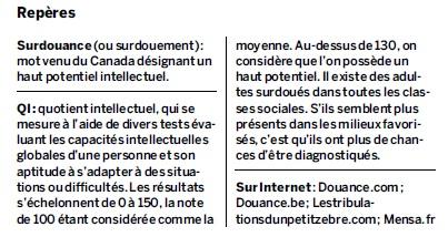 Les maux inavoués des adultes surdoués (Le Monde, mai 2012)