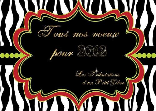 Tous nos voeux pour 2013 - Les Tribulations d'un Petit Zèbre