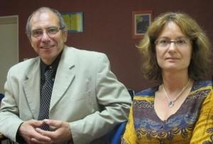 François Lafontaine, inspecteur référent de l'Education Nationale & Sylvaine Brun, de l'AFEP