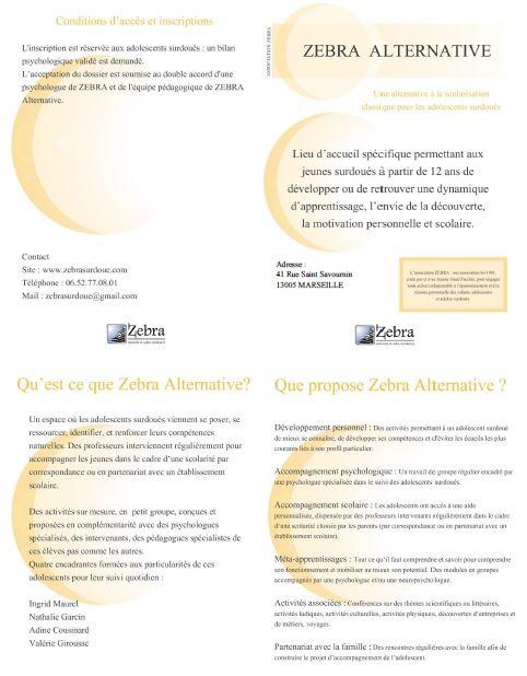 Présentation de Zebra (au format PDF)