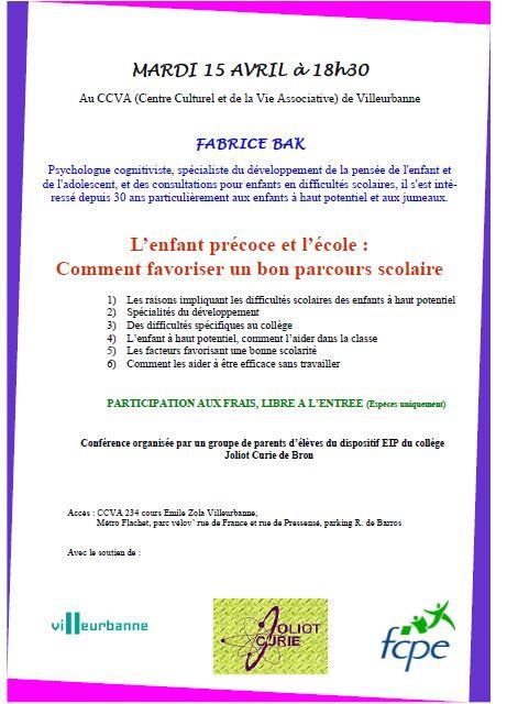 Conférence de Fabrice Bak. Cliquez pour ouvrir (format PDF)