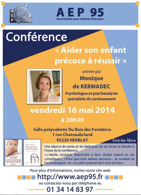 Conférence « Aider son enfant précoce à réussir » (cliquez pour ouvrir)