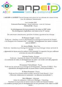 Programme des conférences avec Françoys Gagné