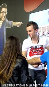 Squeezie & Cyprien sur le stand de la Paris Games Week 2014