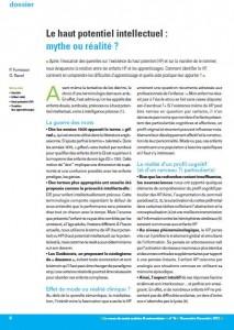 Les EIP ? Mythe ou réalité ? par les Dr Fumeaux & Revol (cliquez pour ouvrir en PDF)