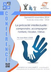 [CONFÉRENCE] La précocité intellectuelle : comprendre, accompagner l'enfant, l'écolier, l'élève par Jean-Marc Louis