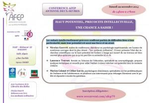 [CONFÉRENCE] Haut-potentiel, précocité intellectuelle, une chance à saisir ! (cliquez pour ouvrir au format PDF)