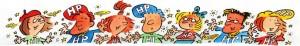 La brochure « Feuille de route pour enfants HPI » éditée par l'ASEP Suisse (dessins par Pecub)