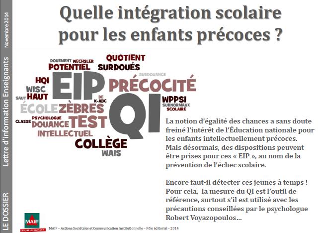 Lettre d'infos MAIF : quelle intégration pour les EIP ? (cliquez pour ouvrir au format PDF)