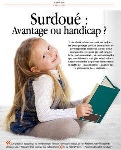Enquête précocité. Surdoué : Avantage ou handicap ? (Intelligence Magazine, janvier 2015)