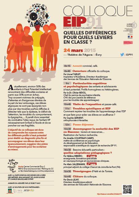 Le programme du colloque organisé par la DSDEN91 (cliquez pour ouvrir  en PDF)
