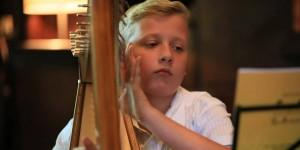 Luc Rouquette, jeune prodige de la harpe (Sud Ouest, juillet 2015)