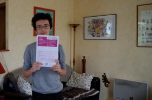 A seulement 15 ans, Robin est le plus jeune bachelier de Seine-et-Marne (La République, juillet 2015)