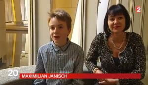 Maximilian Janisch, surdoué des maths à 12 ans (JT de France2, octobre 2015)