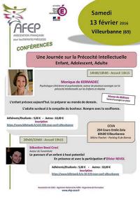 [CONFÉRENCE] AFEP à Villeurbanne ! Une journée sur la Précocité Intellectuelle : Enfant, Adolescent, Adulte