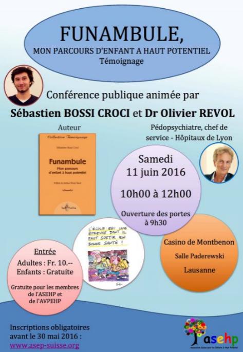 [CONFÉRENCE] publique en Suisse avec Sébastien Bossi Croci & le Dr Olivier Revol
