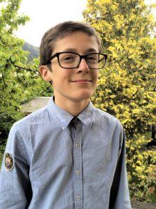 Gautier Gallas, pas encore 15 ans mais il passe le bac cette année (Le Dauphiné, juin 2016)