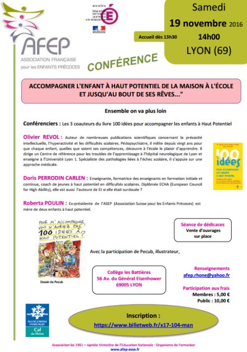 Conférence AFEP à Lyon, le 19 novembre 2016