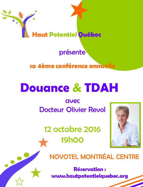 Douance & TDAH, le 03 octobre à Montréal