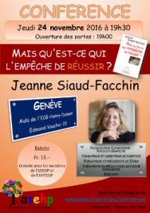"""[CONFÉRENCE] de Jeanne Siaud-Facchin à Genève : """"Mais qu'est-ce qui l'empêche de réussir"""""""