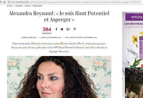 Rencontre avec Alexandra Reynaud : « Je suis Haut Potentiel & Asperger »