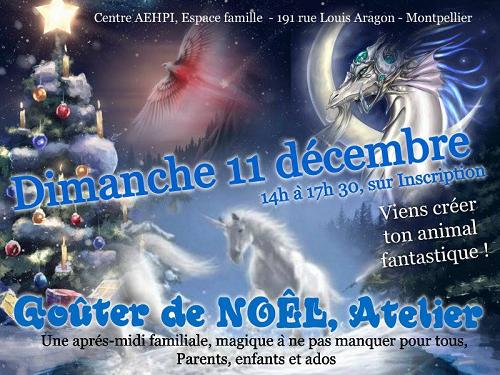 """[ATELIER / GOÛTER de NOËL] sur Montpellier : """"Les animaux fantastiques"""""""