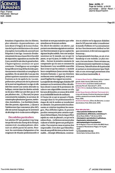 La page 2 de l'article (cliquez pour ouvrir en grand format)